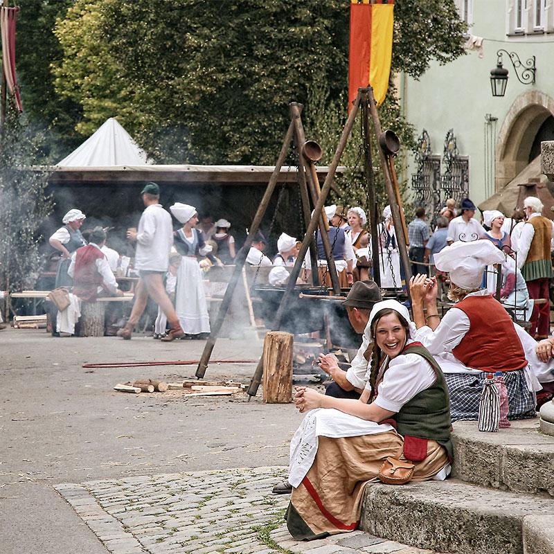 Die historischen Reichsstadtfesttage in Rothenburg ob der Tauber